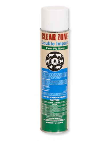 Clear Zone Double Impact Farm Fly Spray