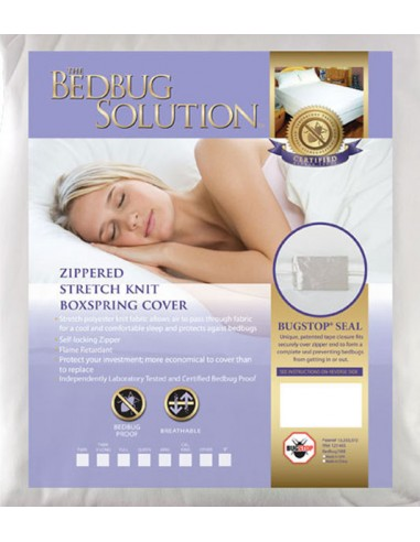 Full Long Zippered Stretch Knit Boxspring Cover